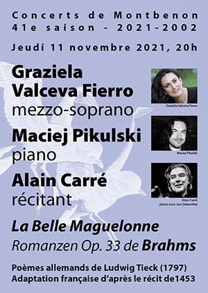 Affiche de l'évènement 41e saison des Concerts de Montbenon – La Belle Maguelone – Johannes Brahms