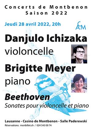 Affiche de l'évènement 40e saison des Concerts de Montbenon – Brigitte Meyer et Danjulo Ishizaka