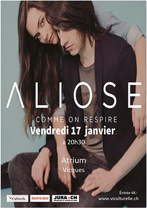 Affiche de l'évènement Concert – Aliose – Comme on respire