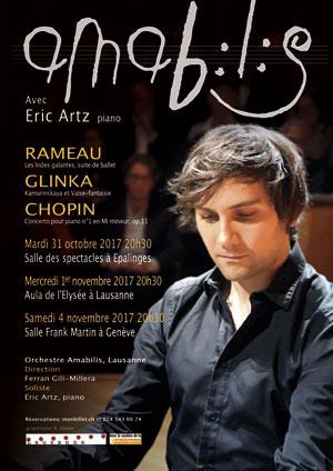Affiche de l'évènement Amabilis en concert avec Eric Artz – Chopin, Rameau, Glinka
