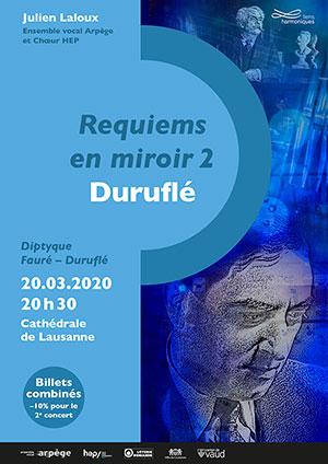 Affiche de l'évènement Chœur HEP, Ensemble vocal Arpège – Requiems en miroir 2 – Duruflé