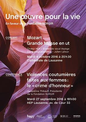 Affiche de l'évènement Ens. voc. Arpège, Chœur HEP, Die Freitagsakademie – Mozart, Grande Messe en ut