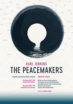 Affiche de l'évènement Ars Vocalis – The Peacemakers – Karl Jenkins