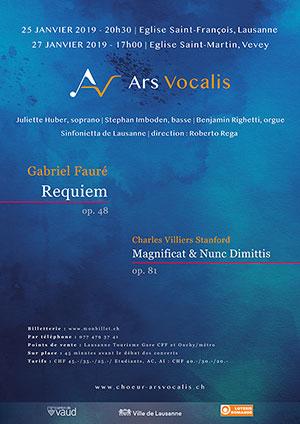Affiche de l'évènement Ars Vocalis – Requiem de Fauré