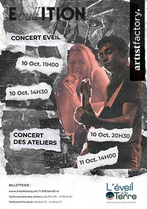 Affiche de l'évènement Concerts de l'école de musique –  Artist Factory