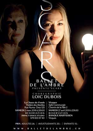 Affiche de l'évènement Le Ballet de l'Ambre – Scars