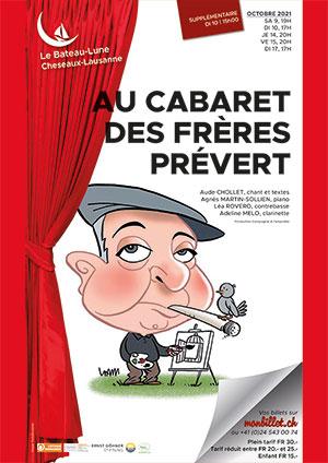 Affiche de l'évènement Spectacle musical – Au cabaret des frères Prévert