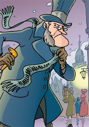 Affiche de l'évènement Spectacle famille – Le drôle de Noël de M. Scrooge