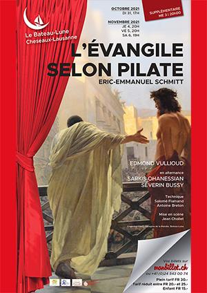 Affiche de l'évènement Théatre – L'Évangile selon Pilate