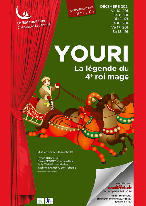Affiche de l'évènement Conte traditionnel – Youri, la légende du 4ème roi mage