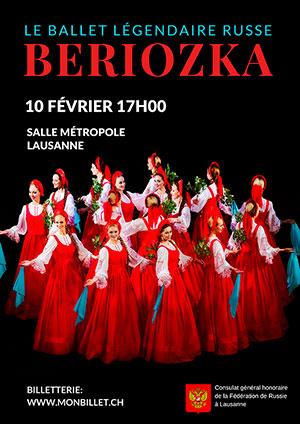 Affiche de l'évènement Le ballet légendaire russe – Beriozka