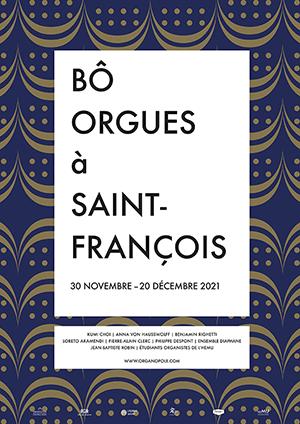 Affiche de l'évènement Concerts d'orgues à Saint-François – Bô orgues