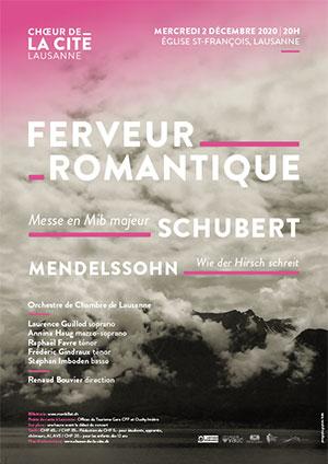 Affiche de l'évènement Choeur de la Cité de Lausanne – Ferveur Romantique