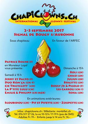 Affiche de l'évènement International Clown's Festival – Chapiclowns