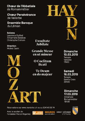Affiche de l'évènement Chœur de l'Abbatiale de Romainmôtier et Chœur Persévérance de Vallorbe – Haydn & Mozart