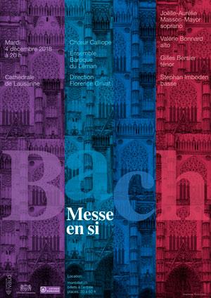 Affiche de l'évènement Chœur Calliope et Ensemble baroque du Léman – Bach, Messe en Si