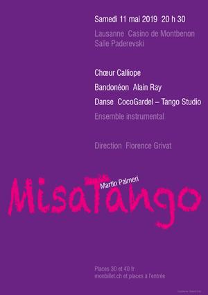 Affiche de l'évènement Chœur Calliope & CocoGardel – MisaTango