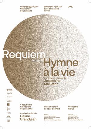 Affiche de l'évènement Mozart et J. Maillefer – Requiem et Hymne à la vie