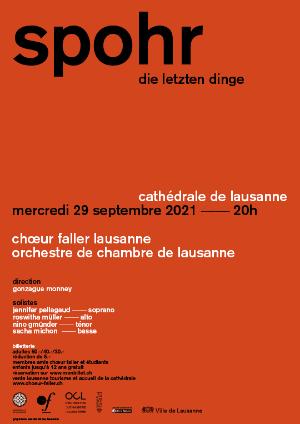 Affiche de l'évènement Choeur Faller Lausanne – Louis Spohr - Die Letzten Dinge
