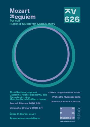 Affiche de l'évènement Chœur du Gymnase de Burier – Requiem de Mozart & Gloria de Vivaldi