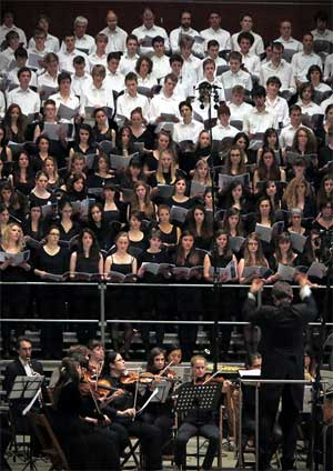 Affiche de l'évènement Bach, Haydn, Mozart – Concert Chœur des Gymnases Lausannois