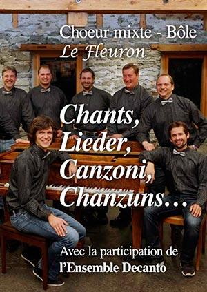 Affiche de l'évènement Chanson – Chants, Lieder, Canzoni, Chanzuns