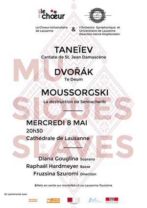 Affiche de l'évènement Chœur Universitaire de Lausanne – Musiques slaves