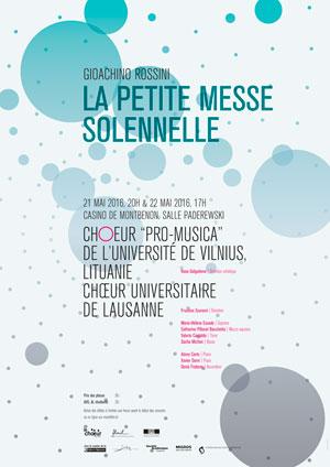 Affiche de l'évènement Chœur Universitaire de Lausanne – Petite messe solennelle de Rossini