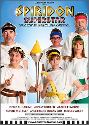 Affiche de l'évènement Une mise en scène de Virginie Lemoine et Laury André – Spiridon Superstar, par le Boulevard romand