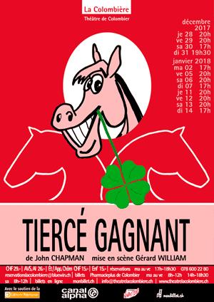 Affiche de l'évènement Compagnie Théâtrale La Colombière – Tiercé Gagnant