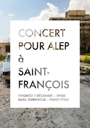 Affiche de l'évènement Concert pour Alep – MarcPerrenoud, PianoSolo
