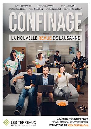 Affiche de l'évènement Humour – Confinage – La nouvelle revue de Lausanne