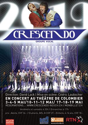 Affiche de l'évènement La chorale pop-rock fête ses 15 ans ! – Crescendo
