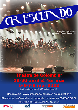 Affiche de l'évènement Chorale pop-rock – Crescendo