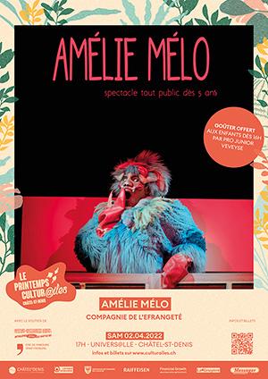 Affiche de l'évènement Les Cultur@iles - Théâtre – Amélie Mélo