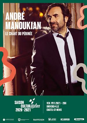 Affiche de l'évènement Les Cultur@iles - Musique – André Manoukian - Le chant du Périnée