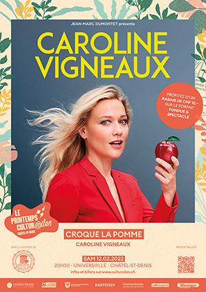 Affiche de l'évènement Les Cultur@iles - Humour – Caroline Vigneaux croque la pomme