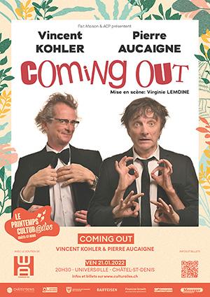 Affiche de l'évènement Les Cultur@iles - Humour – Coming Out