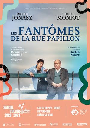 Affiche de l'évènement Les Cultur@iles - Michel Jonasz et Samy Seghir – Les Fantômes de la rue Papillon