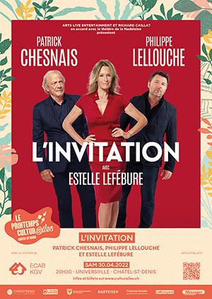 Affiche de l'évènement Les Cultur@iles - Comédie – L'Invitation