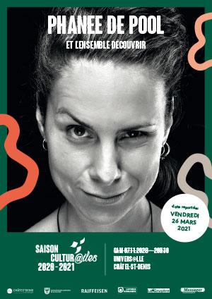 Affiche de l'évènement Les Cultur@iles - Chanson – Phanee de Pool et l'Ensemble Découvrir