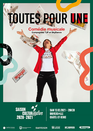 Affiche de l'évènement Les Cultur@iles - Comédie musicale – TJP et SkyDance - Toutes pour Une