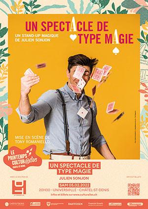 Affiche de l'évènement Les Cultur@iles - Magie-humour-impro – Un spectacle de type Magie