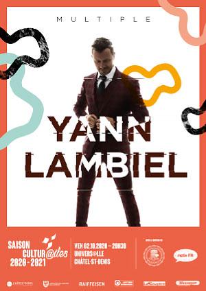 Affiche de l'évènement Les Cultur@iles - Humour – Yann Lambiel - Multiple