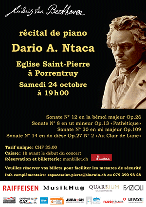 Affiche de l'évènement Ludwig van Beethoven – Dario A. Ntaca