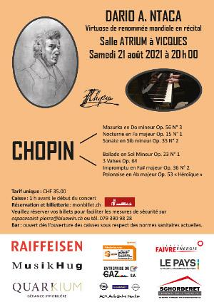 Affiche de l'évènement Frédéric Chopin – Dario A. Ntaca