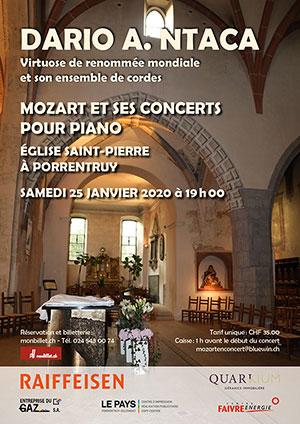 Affiche de l'évènement Mozart et ses concerts pour piano – Dario A. Ntaca