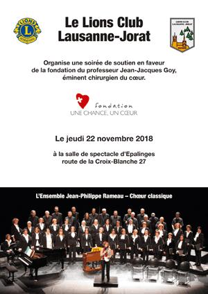 Affiche de l'évènement Concert en faveur de la Fondation Une chance, Un coeur – Ensemble Jean-Philippe Rameau