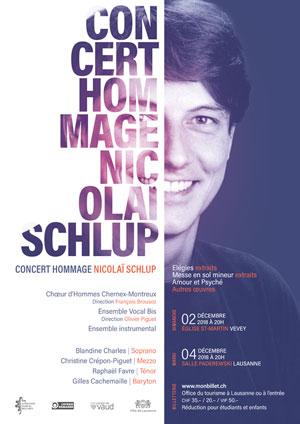 Affiche de l'évènement Ensemble Vocal Bis & Chœur d'Hommes de Chernex-Montreux – Hommage à Nicolaï Schlup