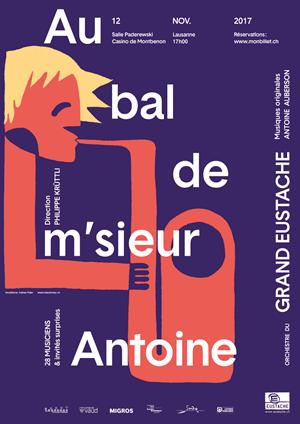 Affiche de l'évènement Orchestre du Grand Eustache – Au bal de M'sieur Antoine